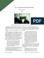 Metaphysics of an Experimental Epistemologist (von Foerster)
