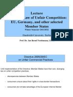 HUMB60071 EU Law III Directive on Unfair Commercial Practises