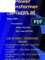 VSTPP Transformer Failures at Vindhyachal.ppt