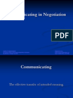 Communication in Negotiation