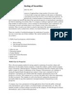 Methods for Marketing of Securities