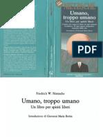 f. w. Nietzsche - Umano Troppo Umano
