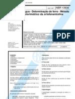 determinação de ferro ortofenantrolina