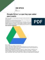 """Trabajo de Ntics Google Drive Egundo de Basica """"a"""""""