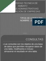 TIPOS DE CONSULTAS