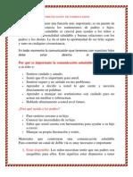 COMUNICACIÓN DE PADRRES E HIJOS