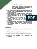 Ejercicios de Repaso Ley de Proust