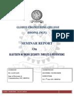Bluetooth Network Security Seminar Report