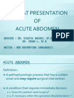 Referat of Acute Abdomen