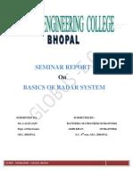 Radar :Radio Detection and Ranging Seminar report