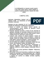 Tematica şi bibliografia examen si concurs 2011 - proba practică
