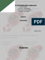 Diabetes e hipertenção slide