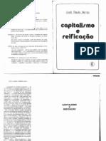 NETTO, José Paulo. Capitalismo e Reificação