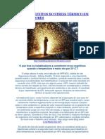 NRs 6, 9 e 15 EFEITOS DO STRESS TÉRMICO EM TRABALHADORES