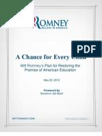 Mitt Romney's Education White Paper