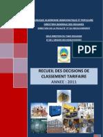 Recueil_de_classement 2012-Douane - Algerienne