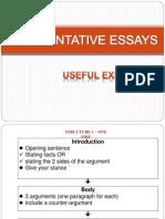Useful Expressions Argumentative