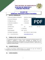 Silabo de Derecho Procesal Constitucional Unh 2012