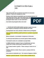 TESTES DE PORTUGUÊS PARA CONCURSOS