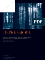 Depression - The NICE Guideline on the Treatment and Management of Depression in Adults