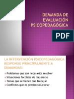 Demanda de Evaluación Psicopedagógica