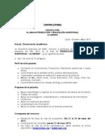 Convocatoria Pasantia Formacion La Mirona
