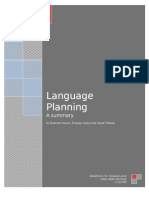 Summary on Language Planning