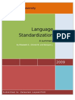 Language Standardization