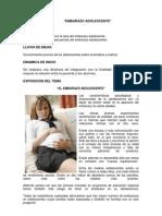 EL EMBARAZO ADOLESCENTE