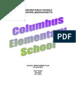 2012-2013 Columbus Elementary School Improvement Plan