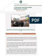 terrorism and israeli-palestinian conflict may 16-22 2012