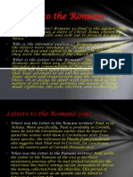 Letters to the Romans Part 1