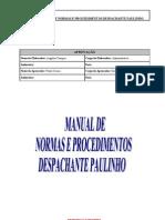 Manual de Normas e Procedimentos Despachante Paulinho