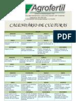 Calendário de Culturas