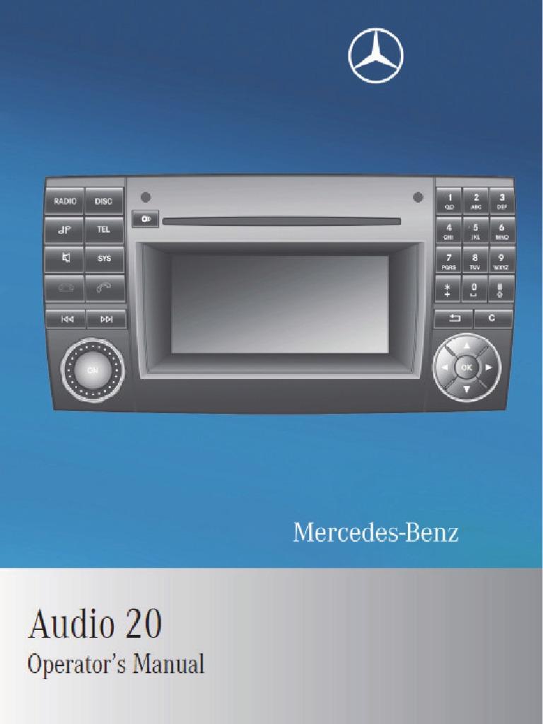 mercedes benz manual audio 20 compact disc electromagnetic rh scribd com Farm Equipment Manuals Farm Equipment Manuals
