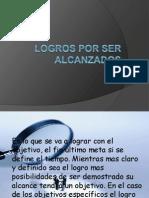 LOGROS POR SER ALCANSADOS