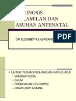 Diagnosis Kehamilan Dan Asuhan Antenatal