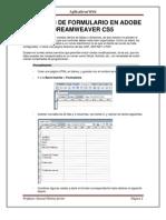 CREACIÓN DE FORMULARIO EN ADOBE DREAMWEAVER CS5