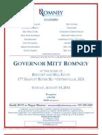 Reception for Romney for President