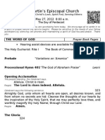 St. Martin's Episcopal Church Worship Bulletin - May 27 - 8 a.m.