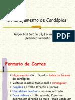 2 PLANEJAMENTO DE CARDÁPIOS - Aspectos Gráficos, Formatos e Desenvolvimento