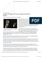 WSJ 4.18.12 Another Foreign CEO Leaves Japan's Executive Ranks