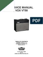 Vox VT50 Service Manual