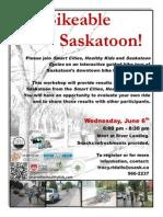 Bikeable Saskatoon workshop June 6th