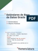 Estandar Base Datos Oracle