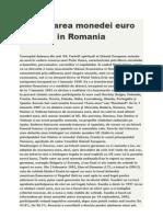 Adoptarea Monedei Euro in Romania