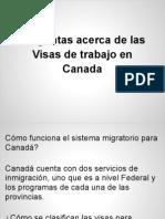 Respuestas Visas de Trabajo en Canada