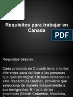 Requisitos Para Trabajar en Canada