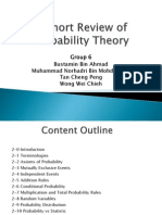 A Short Review of Probability Theory