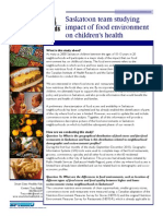 Food Environment Fact Sheet - Smart Cities, Healthy Kids